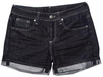 Gianfranco Ferre GF Indigo Dark Wash Metallic Denim Shorts S