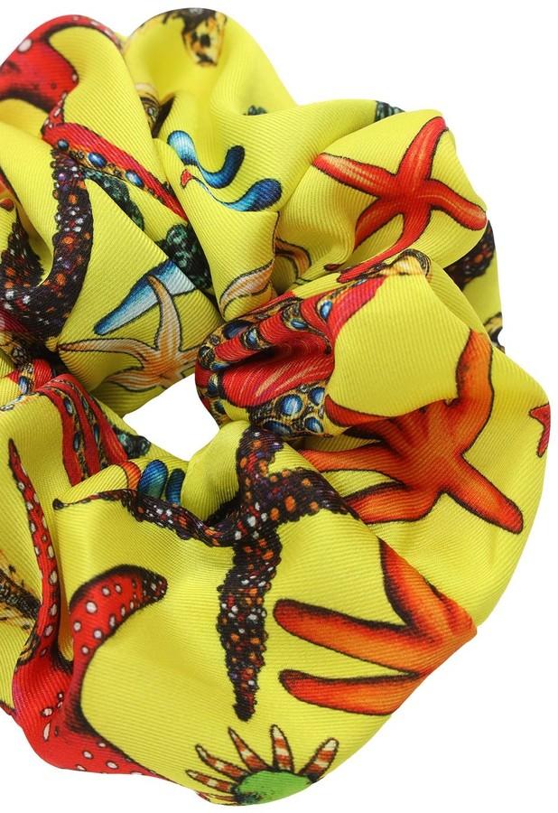 Thumbnail for your product : Versace Twill Tresor De La Mer Print Scrunchie