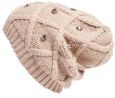 Women's Halogen Embellished Knit Beanie - Beige