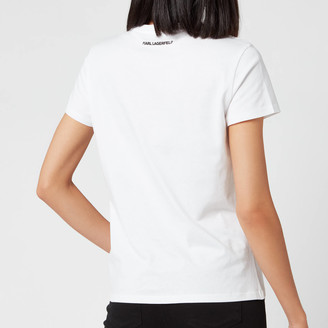 Karl Lagerfeld Paris Women's Orchid K Print T-Shirt