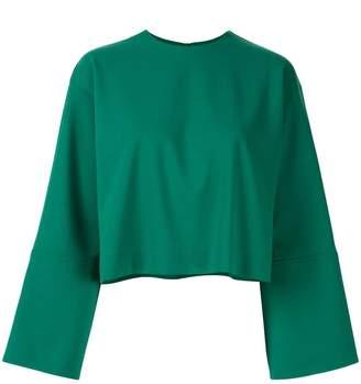 Le Ciel Bleu oversized-fit cropped sweatshirt