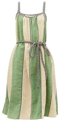 Ace&Jig Noelle Striped Tie-waist Cotton Dress - Womens - Green