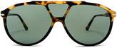 Persol PO3217S in Tortoise Brown Black & Green | FWRD