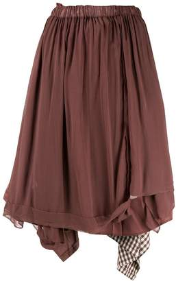 Comme des Garcons Pre-Owned double-layer skirt