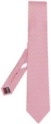 Salvatore Ferragamo Sailboat Print Silk Tie