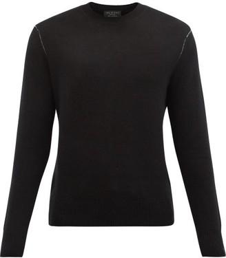 Rag & Bone Haldon Contrast-stitch Cashmere Sweater - Black