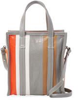 Balenciaga Women's Striped Leather Tote Bag