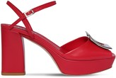 Roger Vivier 90mm Leather Platform Sandals