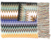 Missoni zig-zag fringed scarf - women - Nylon/Viscose - One Size