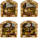 Certified International Tuscan View Set of 4 Canap Plates