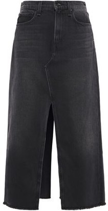 Rag & Bone Clyde Split-front Denim Midi Skirt