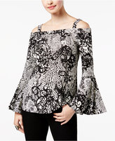 Thalia Sodi Cold-Shoulder Bell-Sleeve Top, Created for Macy's