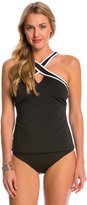 Nautica Soho Solid Criss Cross Tankini Top 8146206