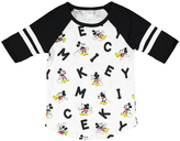 Jerry Leigh Mickey Mouse White & Heather Oh No Raglan Tee - Juniors