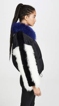 Adrienne Landau Multi Fur Jacket