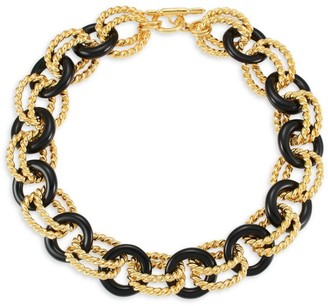 Kenneth Jay Lane Two-Tone Link Necklace