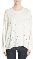 Alexander Wang Women's Distressed Sweater