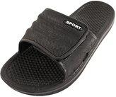 Sport Men's Adjustable Hook and Loop Closure Slip On Sandals