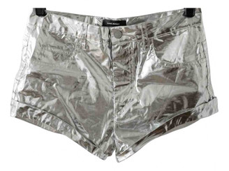 Isabel Marant Silver Cotton Shorts