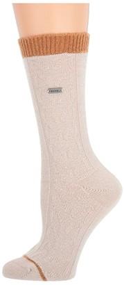Sorel Novelty Cable Wool Crew (Sea Salt) Women's Crew Cut Socks Shoes