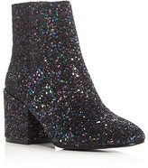 Ash Erika Glitter Block Heel Booties