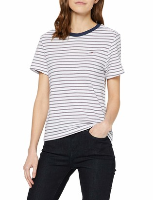 Tommy Jeans Women's TJW Essential Stripe TEE Sports Knitwear