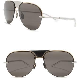 Christian Dior Scale 60mm Modifed Aviator Sunglasses