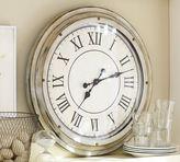 Pottery Barn White Station Clock