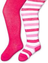 Twins Baby Girls Tights, 2-Pack, Pink (Pink )