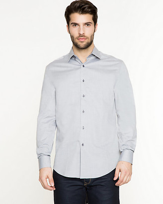 Le Château Two-Tone Cotton Twill Tailored Fit Shirt