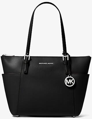 Michael Kors Jet Set Saffiano Leather Top-Zip Tote Bag