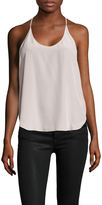 """L'Agence L""""AGENCE Women's Mary Silk T Back Blouse"""