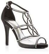 Caparros Ellen Jeweled Satin High Heel Sandals