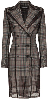 Y/Project double-breasted check blazer dress