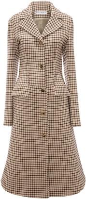 J.W.Anderson Angle Hem grid pattern coat