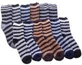 Shoebox Man's Fuzzy Socks Striped Super Soft Warm Size (12 Pair)