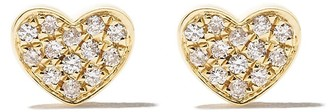 As 29 18kt yellow gold Miami Heart diamond stud earrings