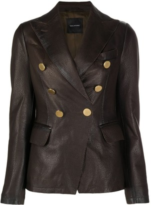 Tagliatore Double-Breasted Lambskin Blazer