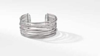 David Yurman The Crossover Collection Cuff Bracelet With Diamonds