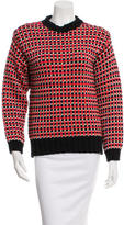 Cédric Charlier Patterned Crew Neck Sweater