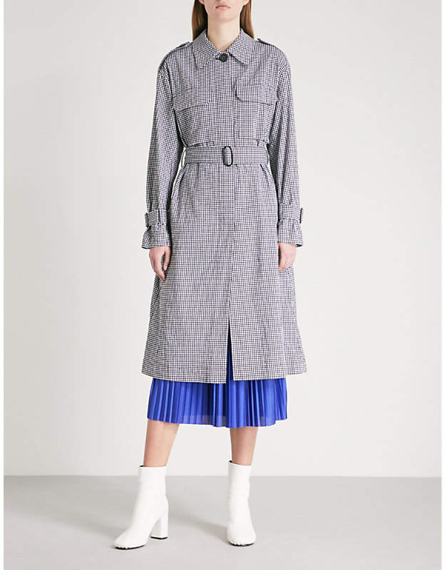 Mo&Co. Stretch cotton trench coat