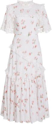 Needle & Thread Women's Desert Rose Cotton-Lace Ballerina Dress - White/pink - Moda Operandi