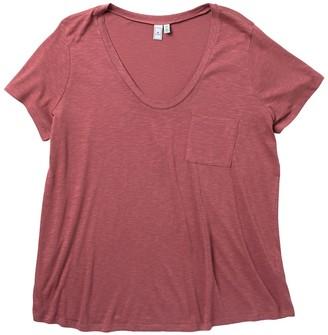 Susina Scoop Neck Pocket Slub T-Shirt (Plus Size)