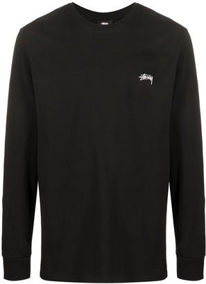 Stussy logo-print long-sleeved T-shirt