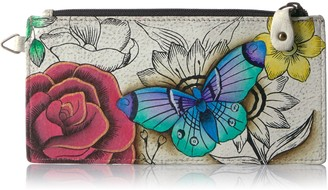 Anna By Anuschka Handpainted Leather Organizer Wallet