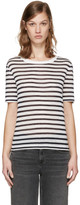 Alexander Wang Navy & White Striped T-Shirt