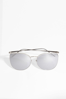 Linda Farrow Luxe White Gold Thin Frame Sunglasses