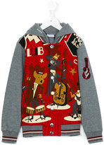 Dolce & Gabbana printed hoodie - kids - Cotton/Polypropylene/Viscose - 8 yrs