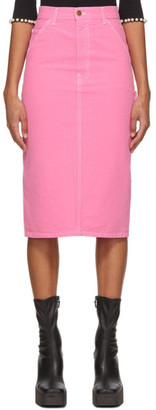 Marc Jacobs Pink Stan Ray Edition The Tailored Workwear Skirt