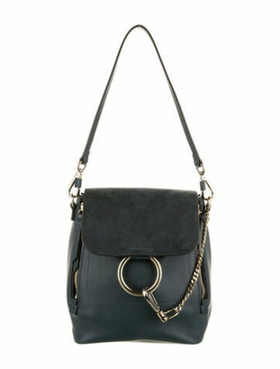 Chloé Small Faye Backpack Blue